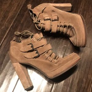 Dolce Vita lace up booties with zipper